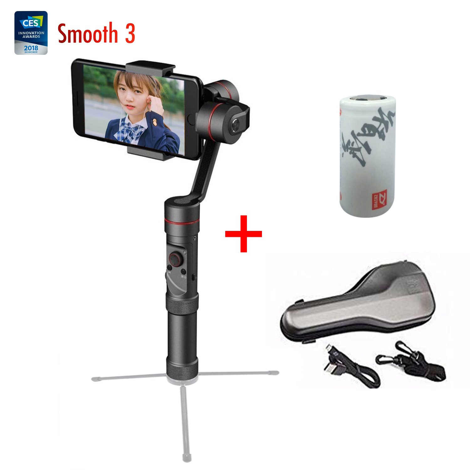 Zhiyun Smooth 3 Axis Joystick Handheld Smartphone Gimbal Stabilizer, Compatible with iPhoneX/8/7 / 6s Plus