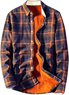 Smdoxi Men's Solid Color Collar Vintage Ethnic Letter Printing Button Casual Long-Sleeved Loose Shirt