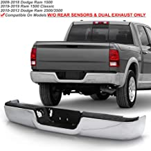 ACANII - For 2009-2018 Dodge Ram 1500 10-12 Ram 2500 3500 Truck Pickup Complete Chrome Steel Rear Step Bumper Assembly