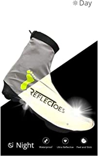 ReflecToes Full Reflective Winter Cycling Shoe Covers for Cycling - for Narrow Road Cycling Shoes - Version 2 - Waterproof, Windproof Overshoes, Rear Zipper - for Men & Women