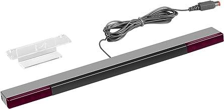Barra sensora de Wii - Younik barra sensora infraroja con cable para las consolas Nintendo Wii y Wii U ( Plateada / Negra )