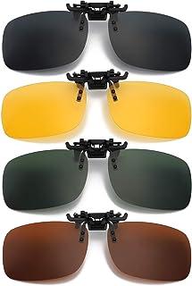 Hifot - Hifot Clip Gafas de Sol polarizadas Lentes 4 Piezas, Flip up Gafas de Sol para Mujer Hombre, Suplementos de Sol para Gafas graduadas