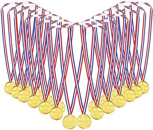Medaglie Bambini Metallo,Medaglie Giocattolo,Oro Medaglie di Vincitore,Medaglie Bambini Plastica,Medaglia di Plastica,Medaglie d Oro,Bambini Medaglie,per Bambini Festa, Concorrenza, Ricompensa