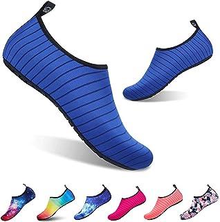 Zapatos de Agua Escarpines Hombres Mujer Niños Verano Zapatillas de Aqua Ligeros de Secado Rápido Playa Piscina Buceo Snorkel Surf Vela Mar Río Yoga Calzado de Natación