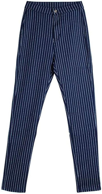 FSDFASS Jeans New Woman Denim Pencil Pants bluee Stripes Stretch Jeans High Waist Pants Women High Waist Jeans Femme