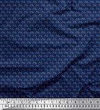 Soimoi Blau Baumwoll-Popeline Stoff Fahrrad Hemdenstoff