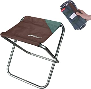 Ultralight Portable Folding Camping Stool for Outdoor Fishing Hiking Backpacking Travelling Little Stools(X-Large:15.7