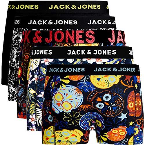 JACK & JONES Trunks 5er Pack Boxershorts Boxer Short Unterhose Mehrpack (XL, 5er Pack Bunt 31)