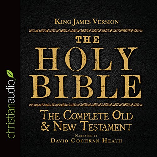 The Holy Bible in Audio - King James Version     The Complete Old & New Testament              By:                                                                                                                                 King James Version                               Narrated by:                                                                                                                                 David Cochran Heath                      Length: 72 hrs and 1 min     18 ratings     Overall 3.8