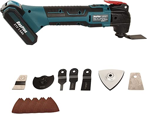 lowest Cordless Oscillating Tool Kit 21V 1.5AH Battery with Blades Sanding Pad Scraper Saw Blade for Cutting Wood Plastic lowest Nail/Scraping/Sanding/Sawing, 6-Speed 4° Oscillating online Angle outlet online sale