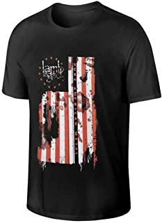 Men`s Lamb of God Pure American Metal Flag Elegant T-Shirt Black