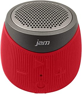 Jam Audio Double Down Portable Bluetooth Wireless Speaker Aux In Red
