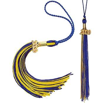RAMONGGU 2 Pack Graduation Tassel with 2020 Year Charm Black