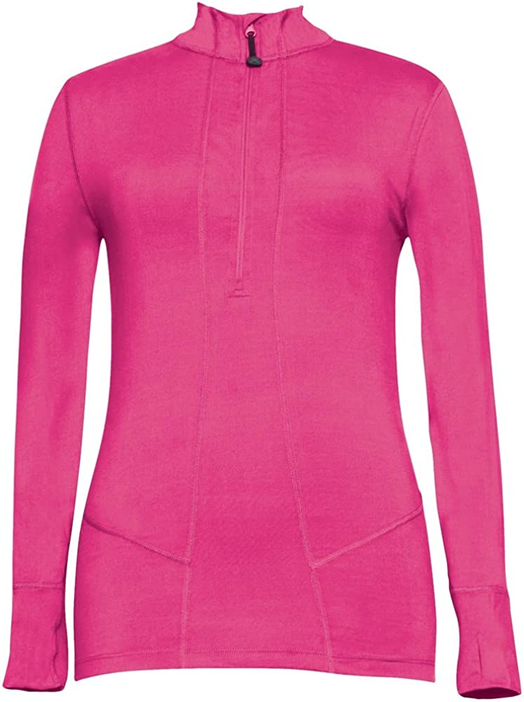Terramar Popular overseas Women's Cloud Safety and trust Nine 4-Way Zip Half Jacke Stretch Brushed