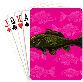 QIAOLII Playing Cards Deck Adult Stress-Resistant Colorful Fish Personalized Playing Cards Unique For Kids & Adults Card Decks Games Standard Size