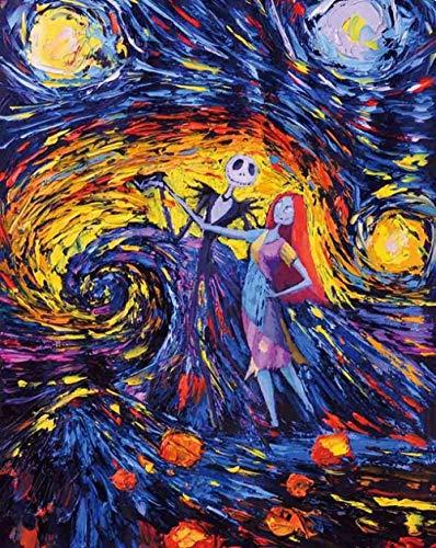 MY-supeng Rompecabezas de 1000 Piezas, Rompecabezas intelectuales de Madera, Rompecabezas, Juguetes de Bricolaje, Regalos para niños, Imagen/Noche Estrellada de Van Gogh