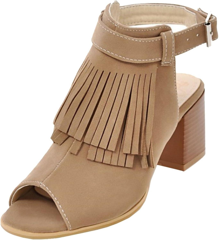RizaBina Women Fashion Open Toe Booties