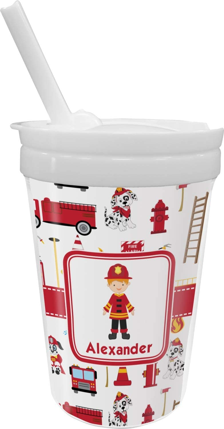Firefighter Character Sippy Cup Ranking Department store TOP20 Straw Personalized with