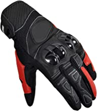 Full Finger Gloves, Touch Screen Knuckle Gloves for Motorcycle Off-Road Cycling Climbing Hunting Outdoor Sports Gear Gloves,Red,L