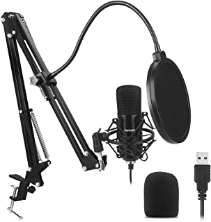 USB Microphone Kit Plug & Play USB Computer Cardioid Mic Podcast Condenser Microphone with Professional Sound Chipset for PC, YouTube, Gaming Recording