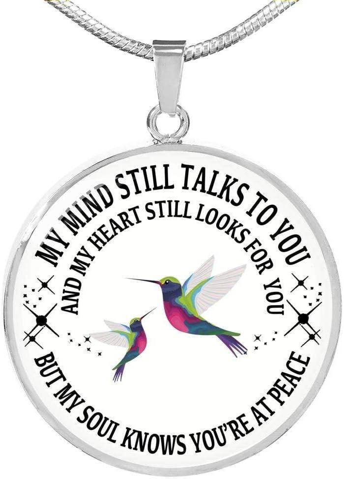 My Mind Still Talks To Memorial Hummingbird Necklace Memori OFFicial mail order favorite You