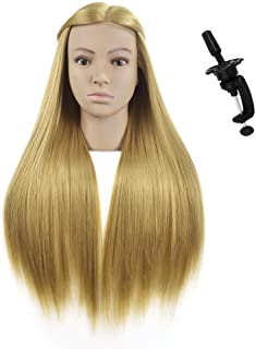 Mannequin Head Professional Styling Head for Hairdresser Doll Head Training Heads with Clamp