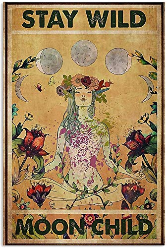 to My Dad Yoga Stay Wild Moon Child Art Canvas 0.75 Inch Print Size 8x12, 12x18, 16x24, 24x36 Inches