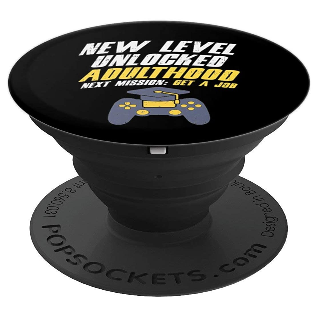 New Level Unlocked Graduation Gamer Graduate Gift Adulthood - PopSockets Grip and Stand for Phones and Tablets