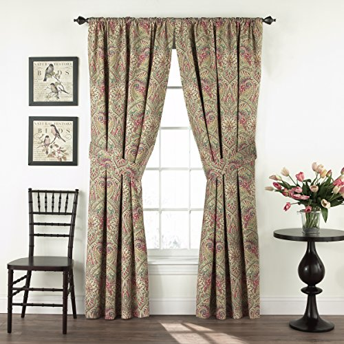 Waverly Swept Away Double Panel Rod Pocket Window Treatment Privacy Curtains for Bedroom, 100