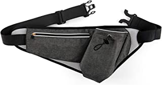 Holographic Fanny Pack with PU Leather Shiny Belt Bag Festival Rave Bumbags for Ladies Travel Party Sports Running Hiking flintronic Waist Bag Black 1 Business Card Holder Include