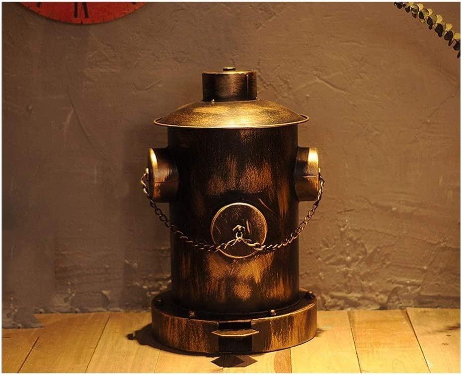 Garbage Cans Retro Industrial Wind Fire Can Pedal Hydrant Spring new Year-end gift work Trash