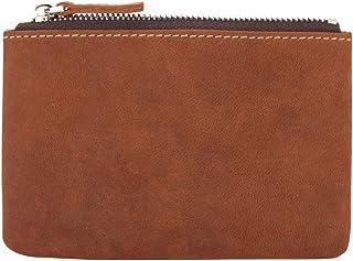 Coin Purse Pouch Fmeida Men's Leather Zipper Change Holder Slim Wallet
