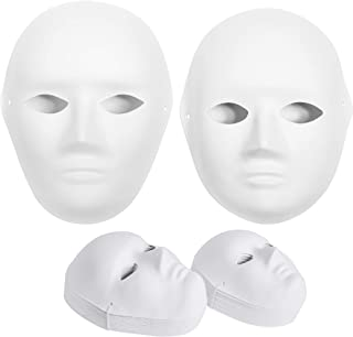 30 Pack Paper Mache Masks - 2 Sizes for Women, Men and Kids; Create Artistic Craft Projects from Wall Decorations to Theat...