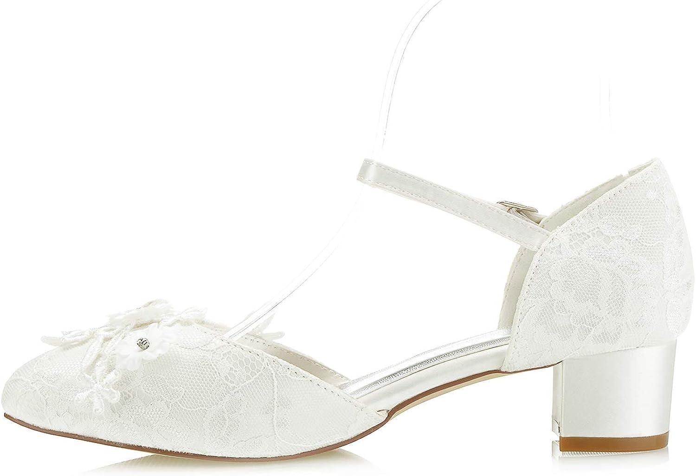 Mrs White 6655-1 Chaussures de Mari/ée Mariage Escarpins pour Femme
