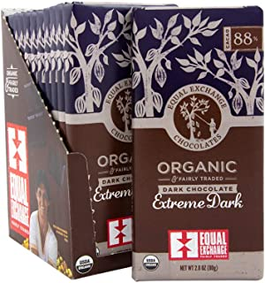 Equal Exchange Organic Extreme Dark Chocolate Bar, 2.8 Ounce (Pack of 12)