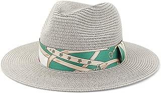 LiWen Zheng Summer Women Men Wide Brim Toquilla Straw Panama Sun Hat For Elegant Lady Gentleman Gangster Trilby Fedora Beach Dad Cap