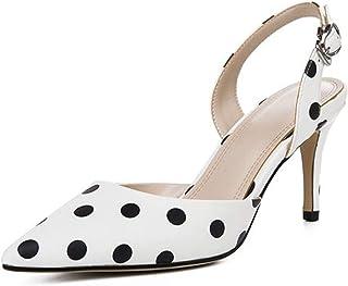 6d3c0248bf07e Women High Heel Sandals Fashion Black and White Stripe Dot Summer Shoes  Women Sexy Party Wedding