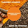 Turmeric Curcumin with Hemp Oil Powder and BioPerine Supplement. Joint Discomfort Relief, Balanced Inflammation. Stress, Sleep & Mood Support with Curcuminoids and Black Pepper 60 Vegetarian Capsules #4