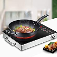 Portable Induction Cooker, 2200W Induction Stove Countertop Burner Sensor Touch Portable Induction Cooktop With Timer Electric Ceramic Cooker Heat-up In Seconds Compatible For All Cookwares