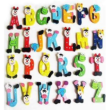 Abecedario Imanes, 26 Piezas A-Z Madera Dibujos Frigorífico Imán para Alfabetización Ortografía, Niños Bebé Juguete Educativo - como Cuadro Show, 26pcs: Amazon.es: Juguetes y juegos