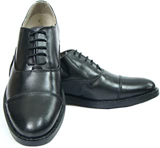 ASM Men's Leather Oxford Shoes with TPR Sole and Memory Foam