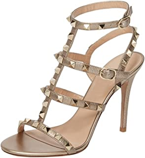 Women's Ankle Strap High Heels Studded Strappy Stilettos Open Toe Dress Sandals