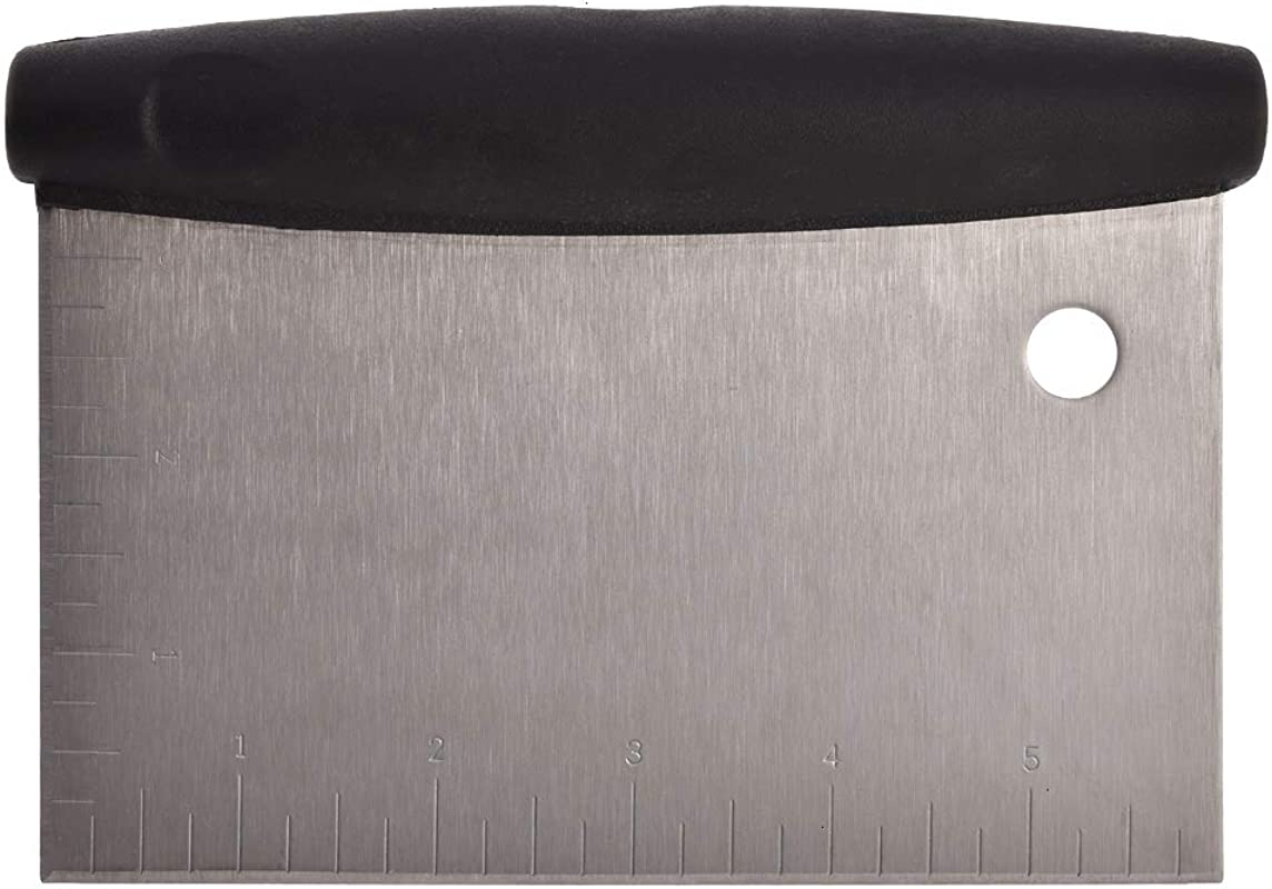 Scraper 1 Pack Stainless Steel Dough Pizza Cutter Pastry Bench Scraper Chopper With Plastic Handle