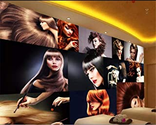 Afashiony Wallpaper for Walls 3D Customized Personality Fashion Glamour Creative Hair Salon Barber Shop Background Now Wallpaper-250Cmx175Cm