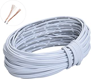 20m(66ft) 20AWG 2Pin Extension Cable Wire Cord Line for Single Color LED Strip Ribbon Lights 3528 5050,2 Wire 20-Gauge Parallel Wire