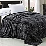 Home Soft Things Light Weight Animal Safari Style Black White Snake Printed Flannel Fleece Blanket (Queen)