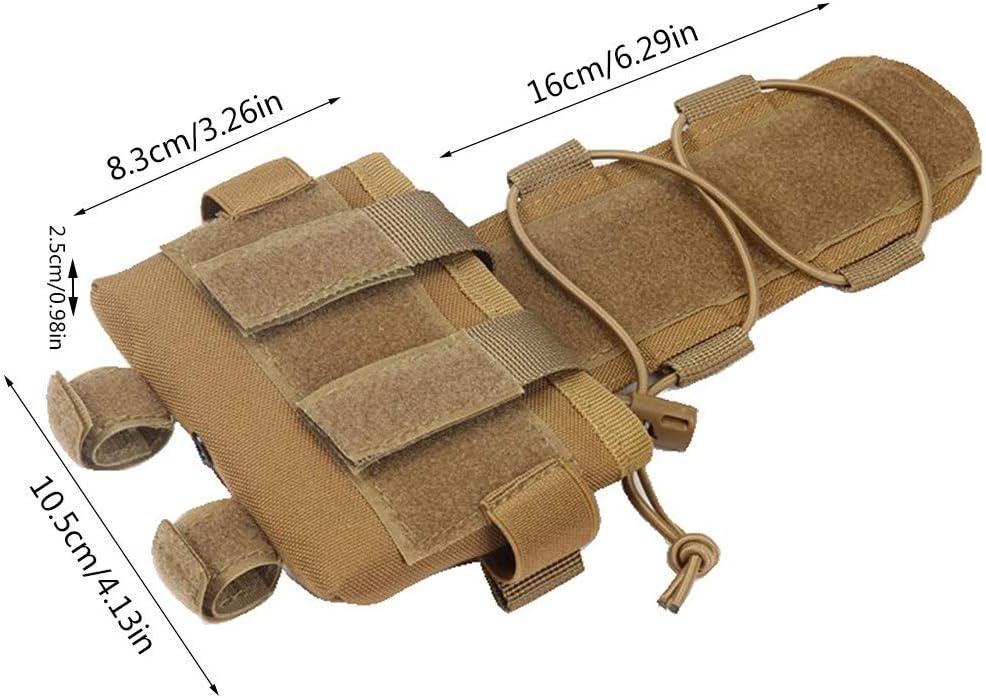 DONGKER Pochette de Casque Tactique 600D Nylon Casque Equilibre Poids Pochette de Contrepoids Pochette de Batterie de Casque Tactique pour Tir Cyclisme Randonn/ée Camping