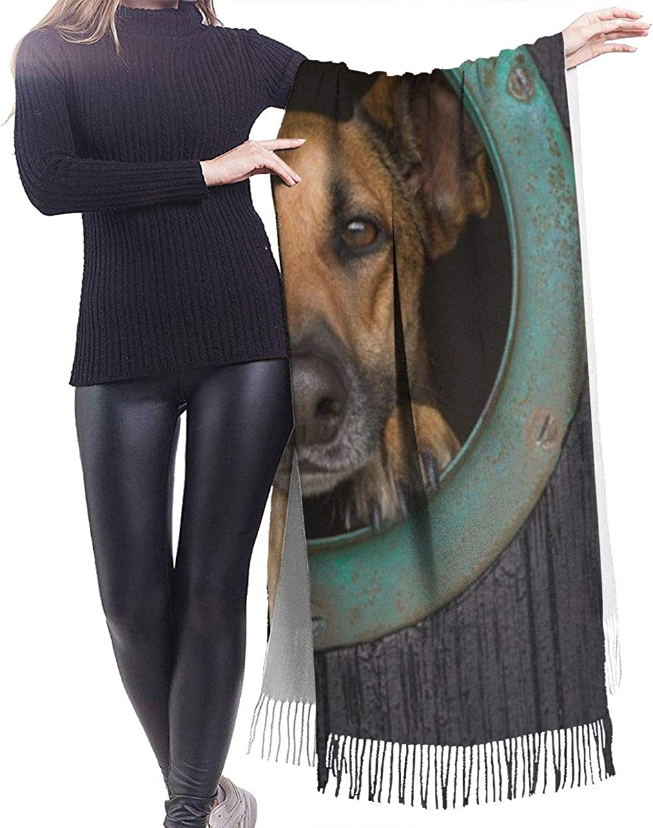 Outdoor Dog Cashmere Shawl Wrap Scarf Large Warm Scarf For Women