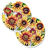Caroline tesoros de girasoles Set de 2cup Holder coche posavasos 8766Carc, 2,56, multicolor