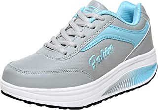 Opinionated Women's Comfortable Platform Walking Sneakers Lightweight Casual Tennis Air Fitness Shoes